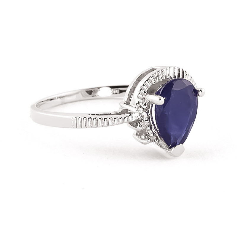 Sapphire and Diamond Belle Ring 1.5ct in 9ct White Gold