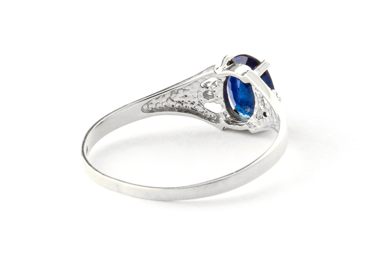 Sapphire and Diamond Desire Ring 1.25ct in 9ct White Gold