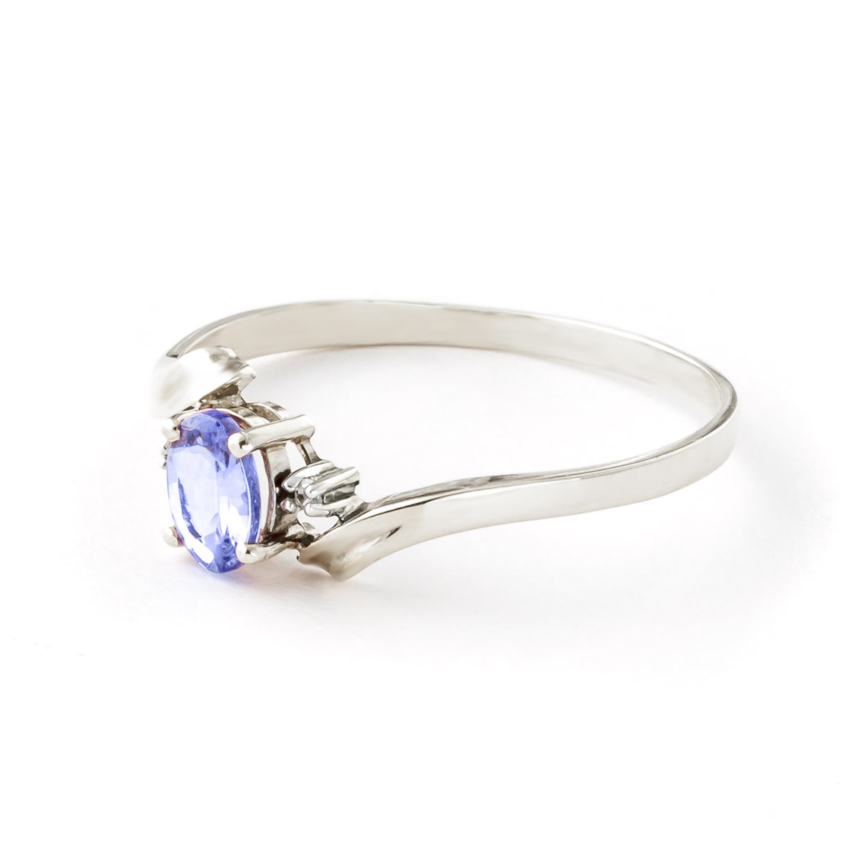 Tanzanite and Diamond Embrace Ring 0.45ct in 14K White Gold