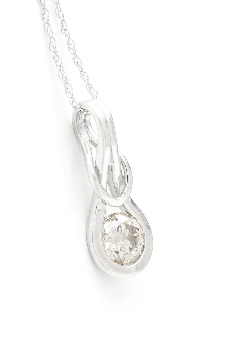 Diamond San Francisco Pendant Necklace in 9ct White Gold
