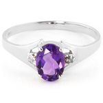 Amethyst and diamond ring by QP Jewellers