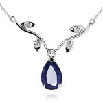Sapphire and diamond necklace by QP Jewellers