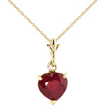 Ruby heart necklace by QP Jewellers