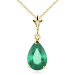 Pear cut emerald necklace by QP Jewellers