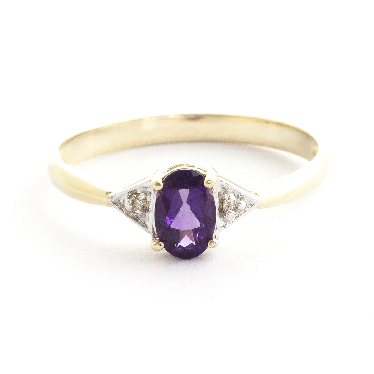 Amethyst & Diamond Allure Ring in 18ct Gold