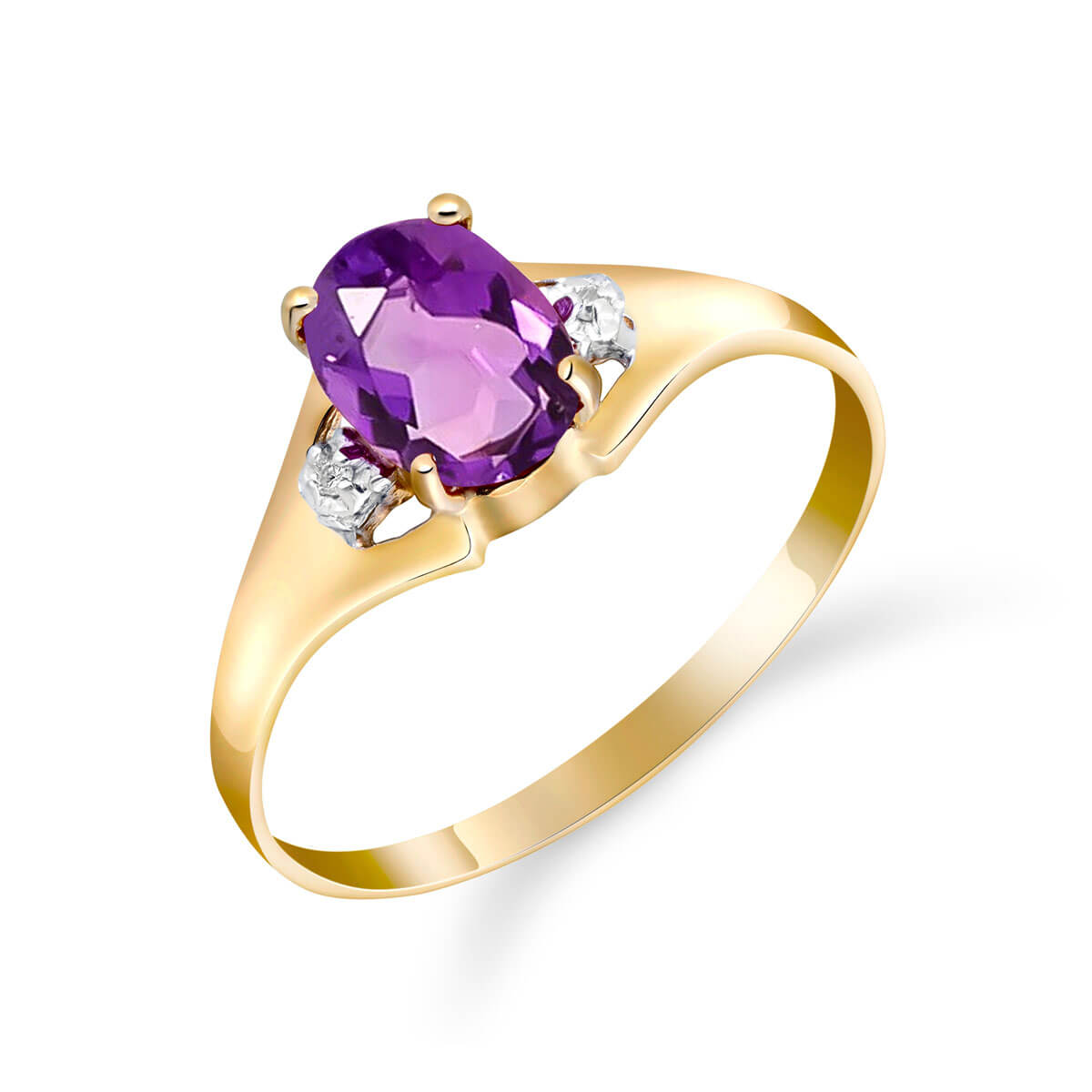 Amethyst & Diamond Desire Ring in 18ct Gold