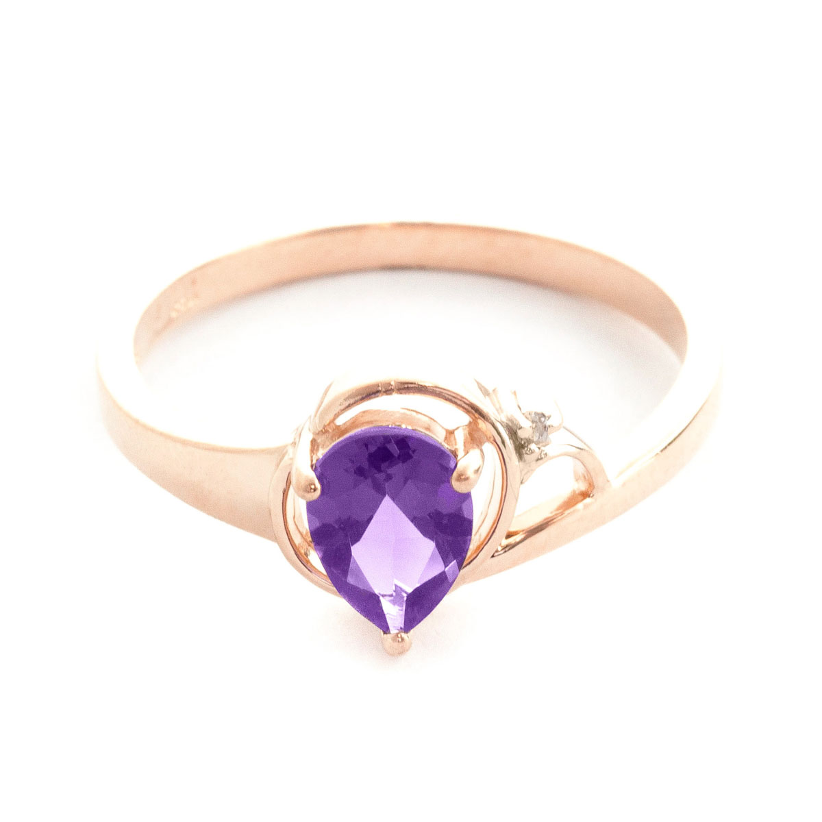 Amethyst & Diamond Glow Ring in 18ct Rose Gold