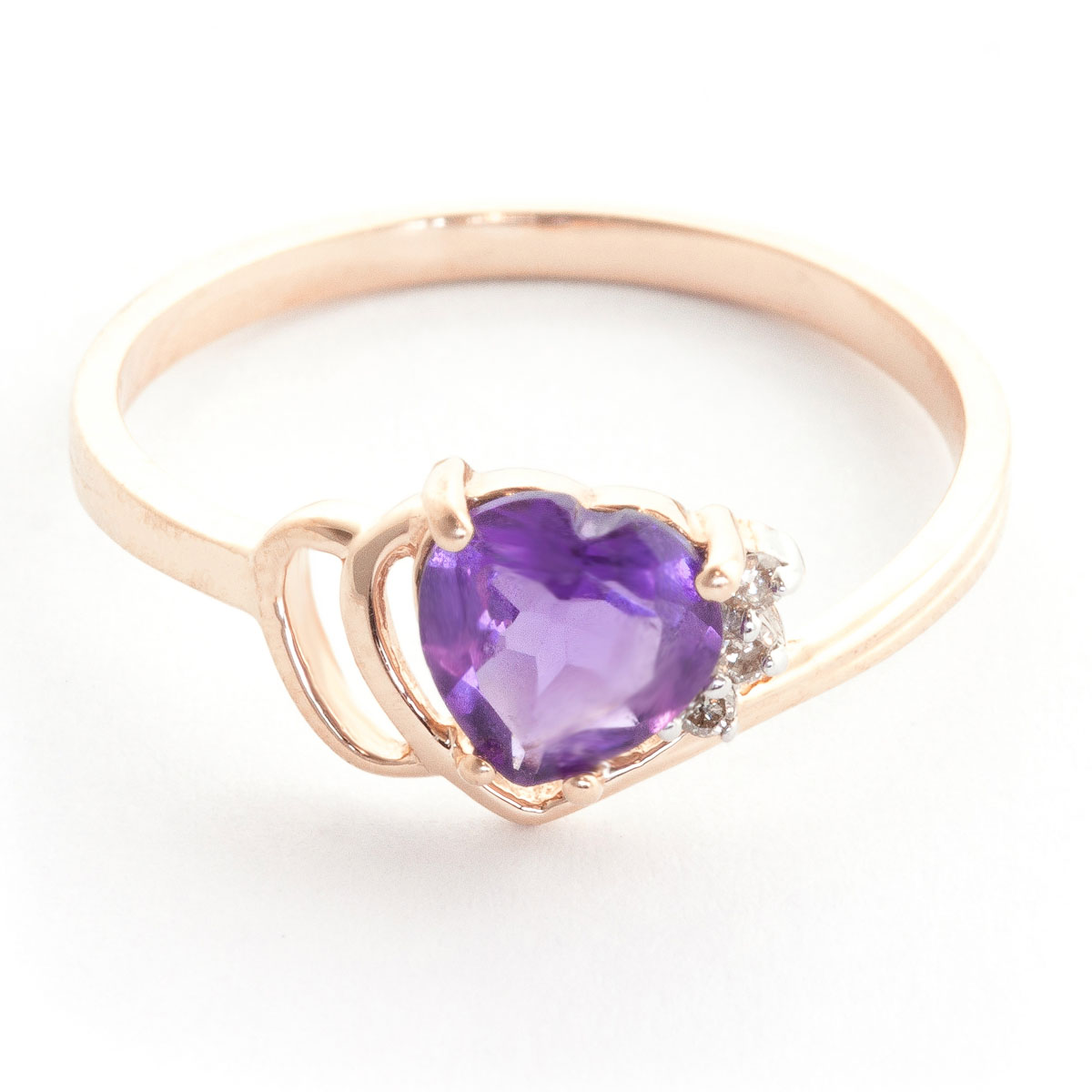 Amethyst & Diamond Passion Ring in 18ct Rose Gold