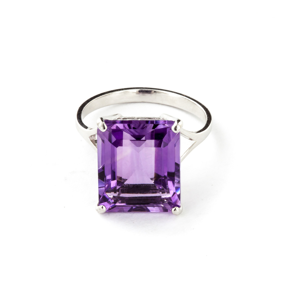 Image of            Amethyst Auroral Ring 6.5 ct in 18ct White Gold