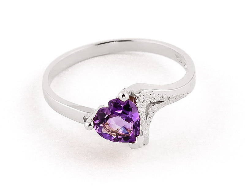 Amethyst Devotion Ring 0.75 ct in 18ct White Gold