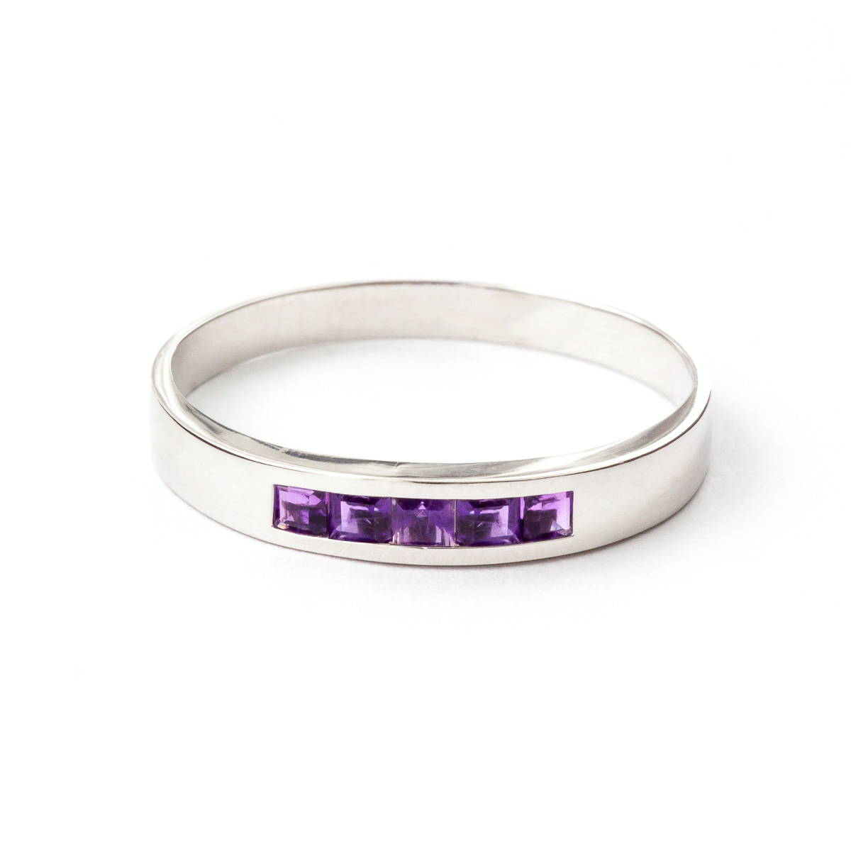 Amethyst Princess Prestige Ring 0.6 ctw in 9ct White Gold
