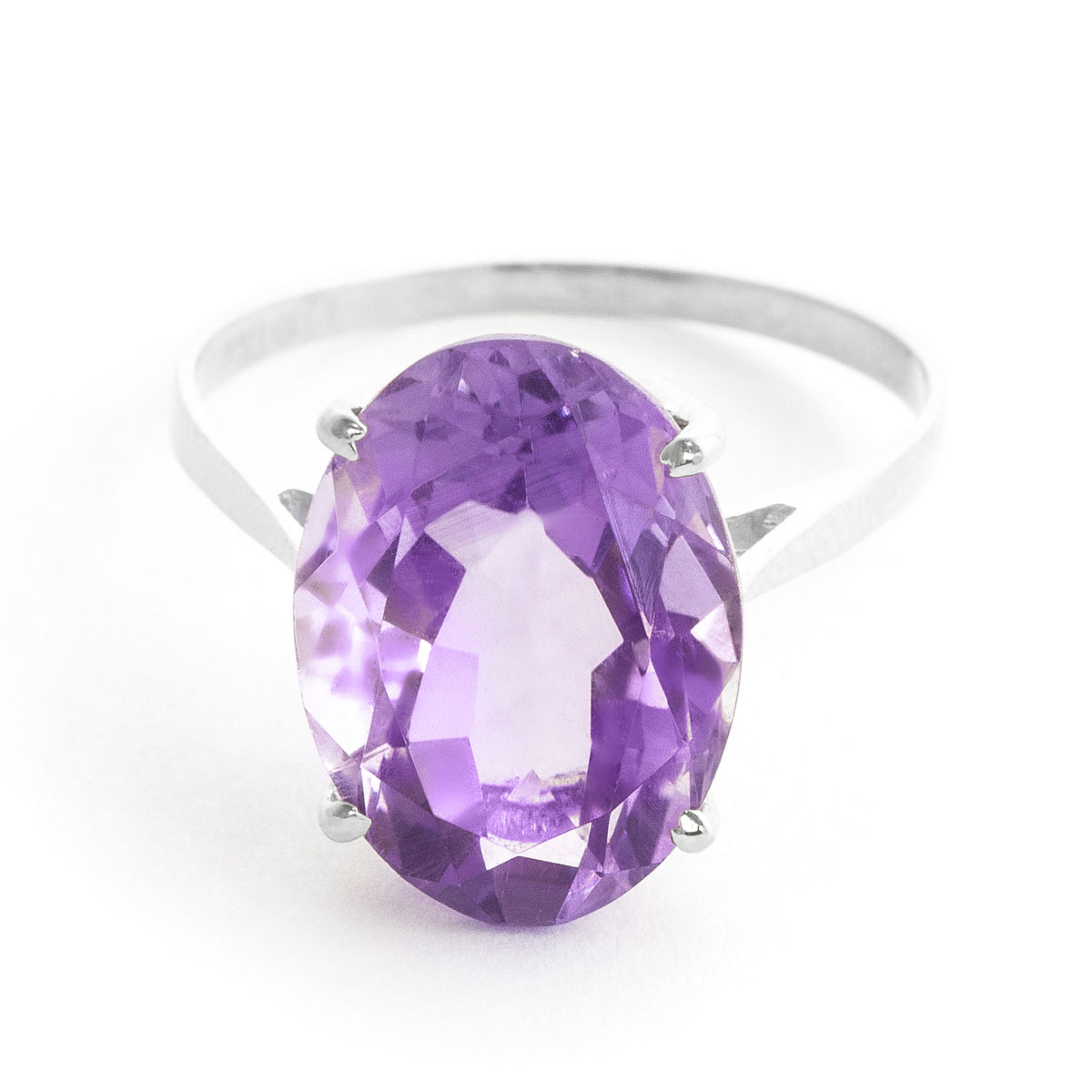 Amethyst Valiant Ring 7.55 ct in 18ct White Gold