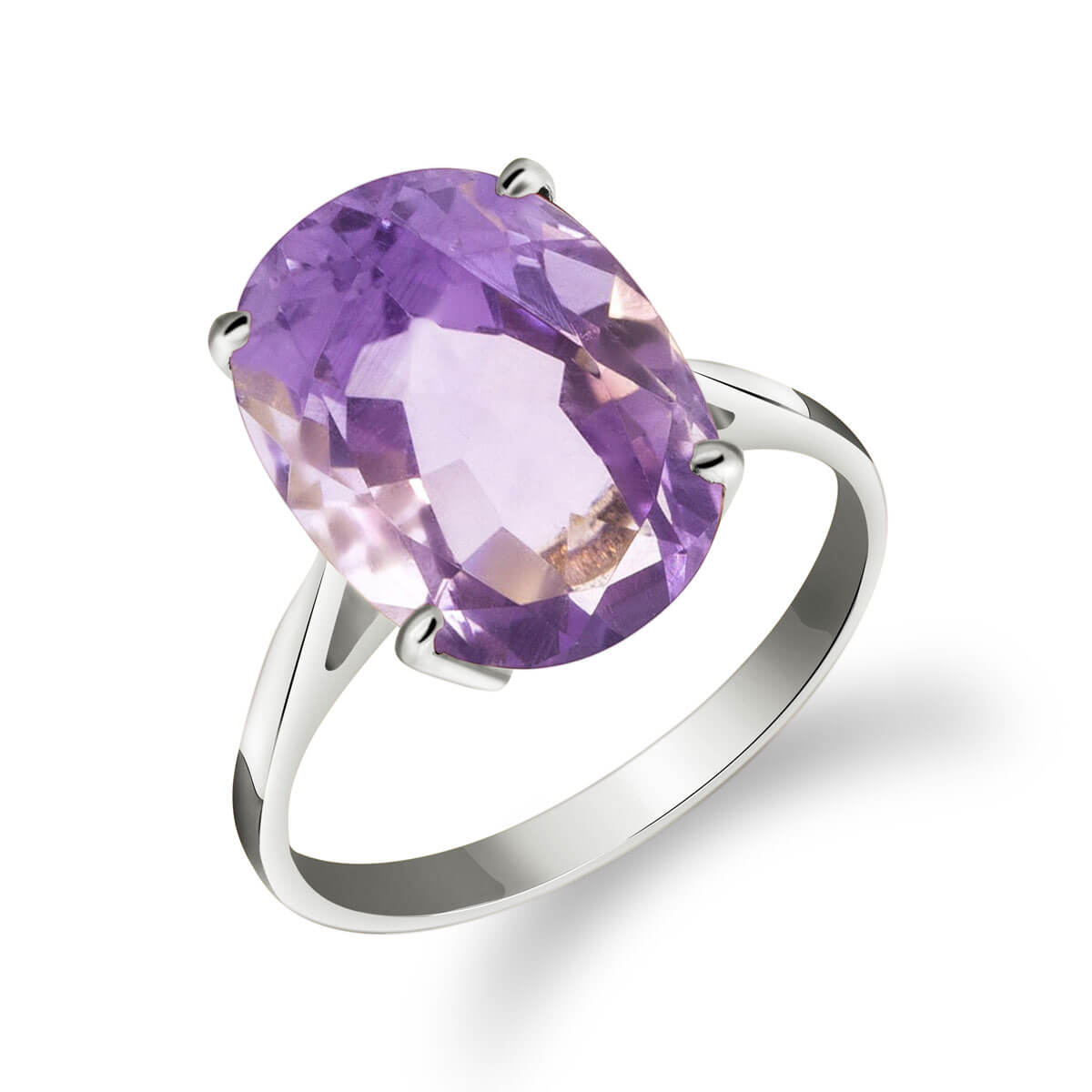 Amethyst Valiant Ring 7.55 ct in 9ct White Gold