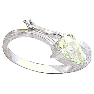 Aquamarine & Diamond Top & Tail Ring in Sterling Silver