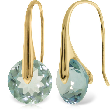 Blue Topaz Drop Earrings 16.5 ctw in 9ct Gold