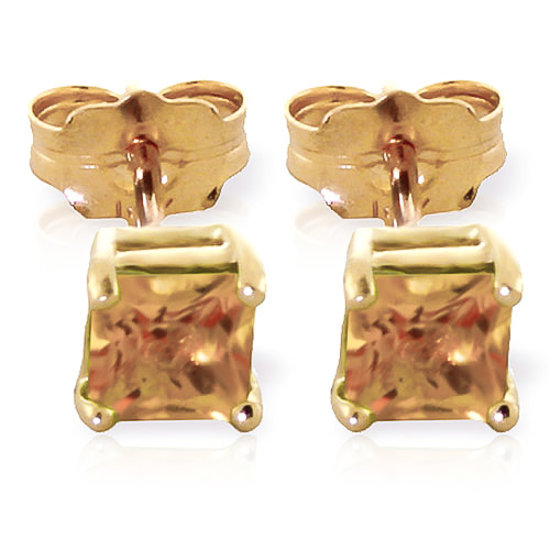 Citrine Alexandra Stud Earrings 0.7 ctw in 9ct Gold