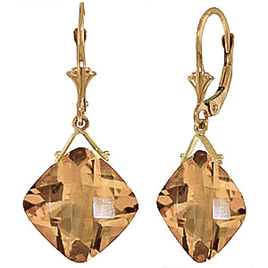 Citrine Deflection Drop Earrings 17.5 ctw in 9ct Gold