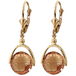 Citrine Drop Earrings 6.5 ctw in 9ct Gold