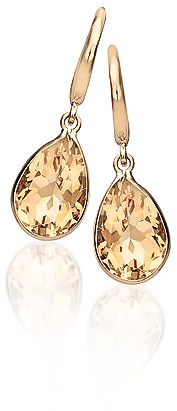 Citrine Elliptical Drop Earrings 5 ctw in 9ct Gold