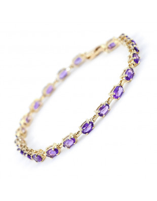Amethyst Infinite Tennis Bracelet 5.5 ctw in 9ct Gold