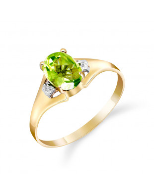 Peridot & Diamond Desire Ring in 9ct Gold