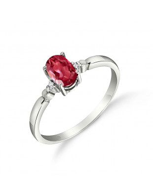 Ruby & Diamond Allure Ring in 9ct White Gold
