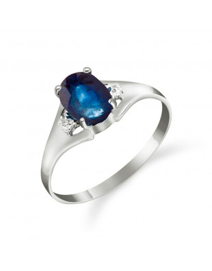Sapphire & Diamond Desire Ring in 9ct White Gold