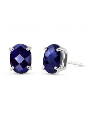 Sapphire Stud Earrings 2 ctw in 9ct White Gold
