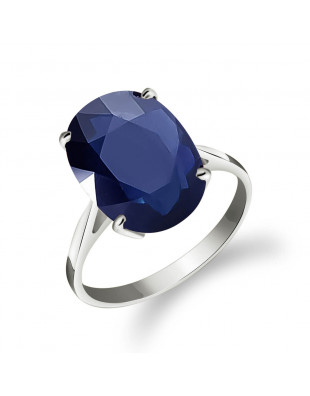Sapphire Valiant Ring 8.5 ct in 9ct White Gold