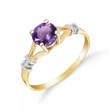 Amethyst & Diamond Aspire Ring in 9ct Gold