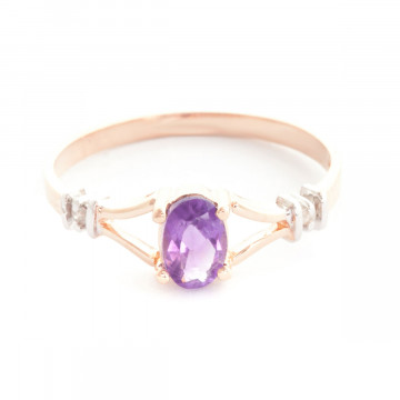 Amethyst & Diamond Aspire Ring in 9ct Rose Gold