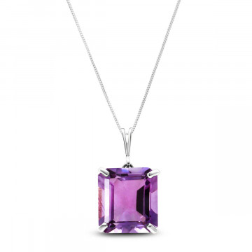 Amethyst Auroral Pendant Necklace 6.5 ct in 9ct White Gold