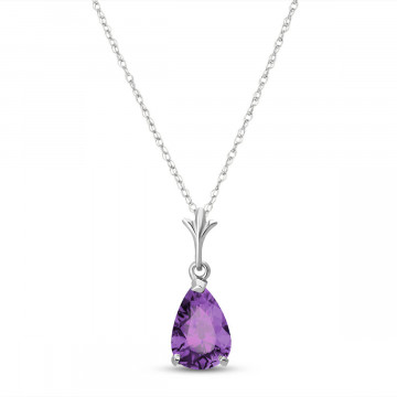 Amethyst Belle Pendant Necklace 1.5 ct in 9ct White Gold