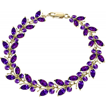 Amethyst Butterfly Bracelet 16.5 ctw in 9ct Gold