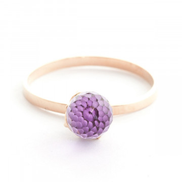 Amethyst Crown Ring 3 ct in 9ct Rose Gold