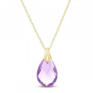 Amethyst Dewdrop Pendant Necklace 3 ct in 9ct Gold