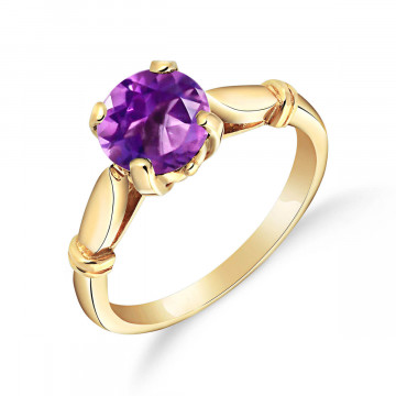 Amethyst Solitaire Ring 1.15 ct in 9ct Gold
