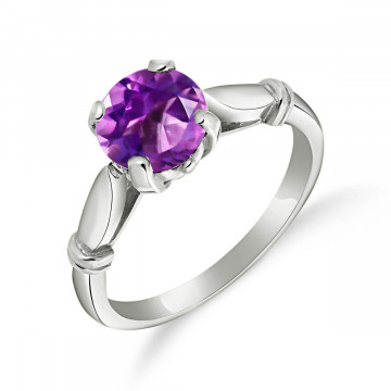 Amethyst Solitaire Ring 1.15 ct in Sterling Silver