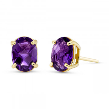 Amethyst Stud Earrings 1.8 ctw in 9ct Gold