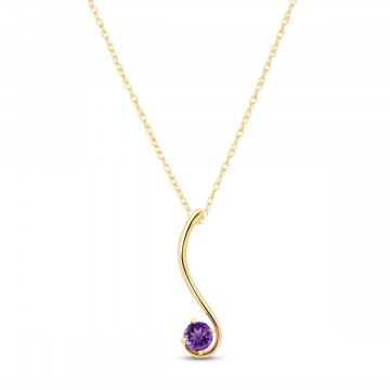 Amethyst Swish Pendant Necklace 0.55 ct in 9ct Gold