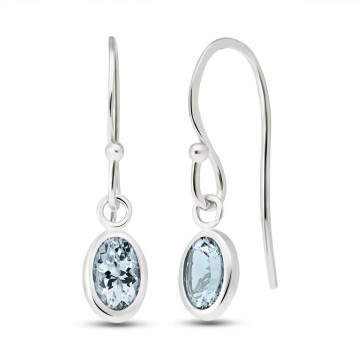 Aquamarine Allure Drop Earrings 1 ctw in 9ct White Gold