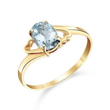 Aquamarine Classic Desire Ring 0.75 ct in 9ct Gold