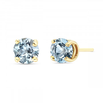 Aquamarine Stud Earrings 0.95 ctw in 9ct Gold