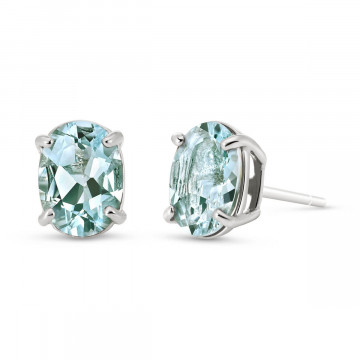 Aquamarine Stud Earrings 1.8 ctw in 9ct White Gold