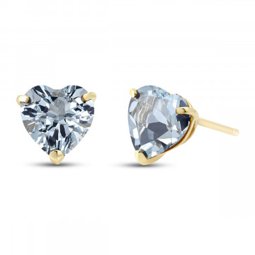Aquamarine Stud Earrings 3.25 ctw in 9ct Gold