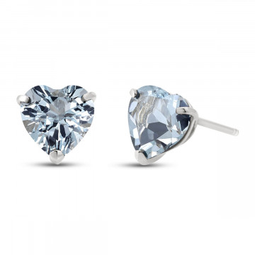 Aquamarine Stud Earrings 3.25 ctw in 9ct White Gold