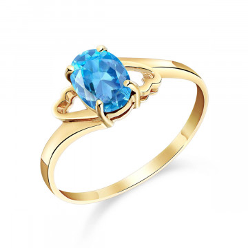Blue Topaz Classic Desire Ring 0.95 ct in 9ct Gold