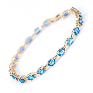 Blue Topaz Infinite Tennis Bracelet 5.5 ctw in 9ct Gold