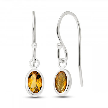 Citrine Allure Drop Earrings 1 ctw in 9ct White Gold