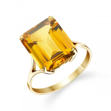 Citrine Auroral Ring 6.5 ct in 9ct Gold